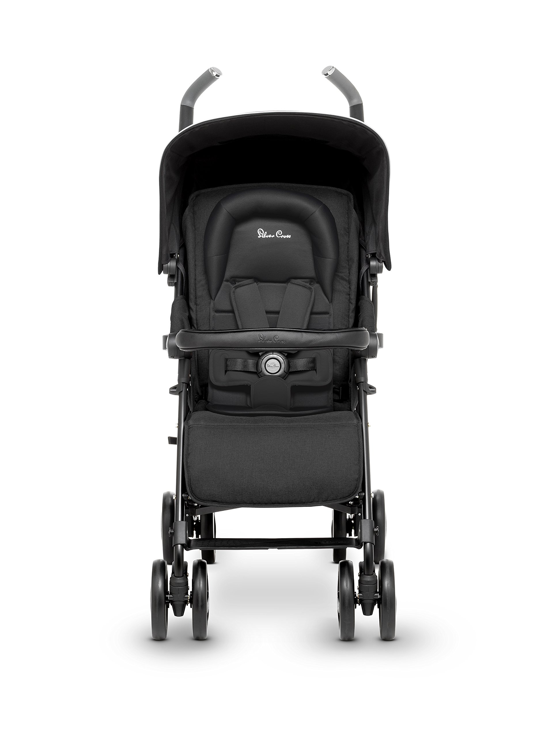 Silver Cross Reflex Stroller, Onyx Silver Cross Reflex is an advanced stroller, suitable from birth up to 25kg, with a wealth of features 5-point Harness Combine with Silver Cross Simplicity Car Seat to create a convenient Travel System 2