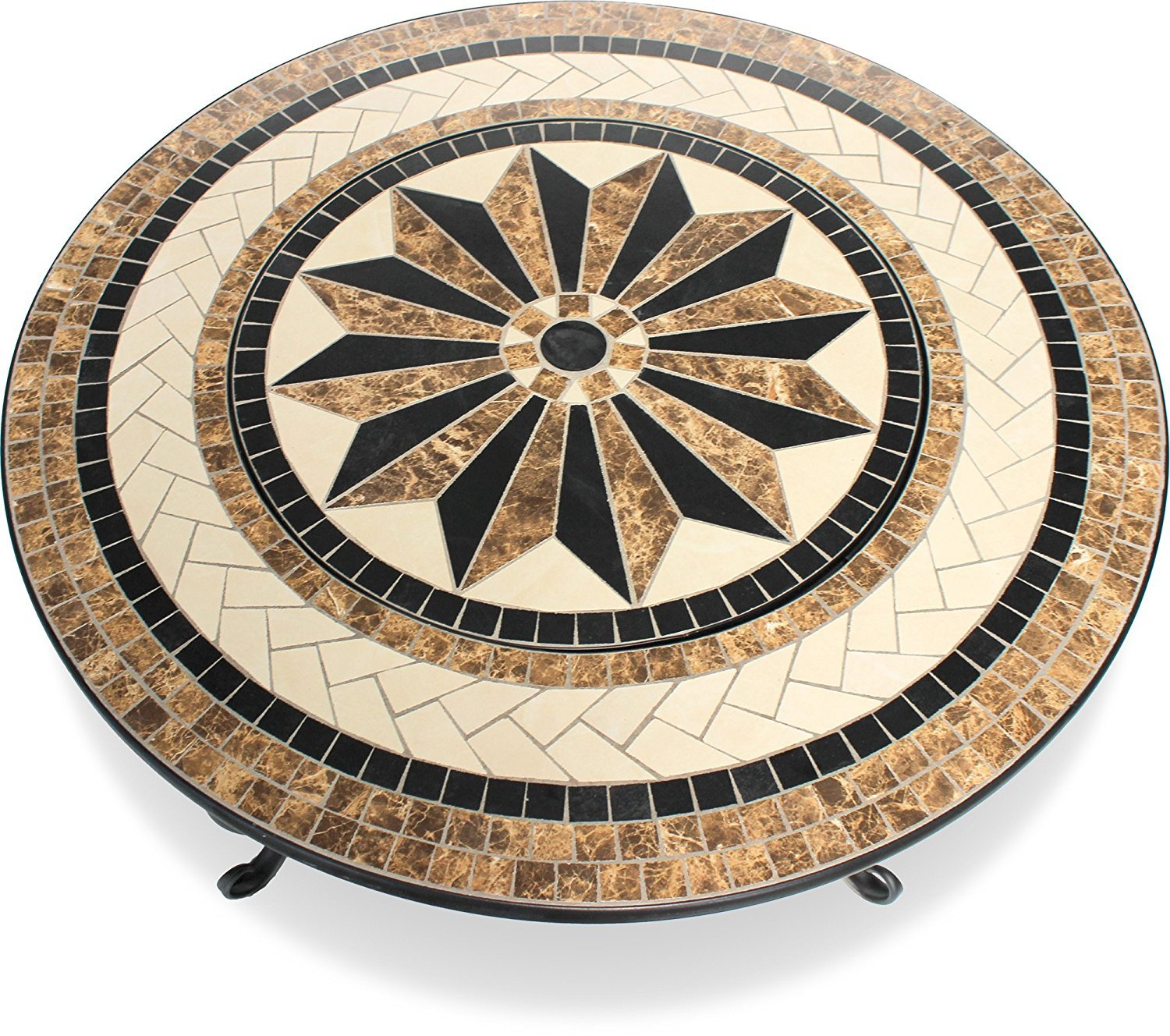 Centurion Supports Fireology TOPANGA Garden Heater/Fire Pit/Coffee Table/Barbecue/Ice Bucket – Ceramic Finish