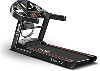 Kobo TM-102 Steel 2 HP Motorised Treadmill with MP3 (Black)