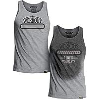 Actizio Sweat Activated Workout Gym Motivational Men's Fitness Tank Top Vest, Workout Complete