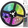 AGPTEK 5M LED Strip Lights RGB 5050 Colorful Lights with Remote Control 20 Colors 8 Brightness Modes Decorative LED Tape Ligh