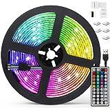Tiras LED 5M, AGPTEK Luces LED 5050 RGB 150 Tira LED con Control Remoto de 44 Botones, 20 Colores 8 Modos de Brillo y 6 opcio