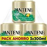 Pantene Suave Y Liso, Mascarilla Antiencrespamiento Cabello, Tratamiento Reconstructor De Keratina, 3 mascarillas de 300 ml