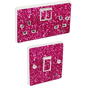 Pink Polka Dot Light Switch Sticker Vinyl Cover Skin Stikaco