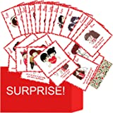 OddClick A-Z Reasons to Love You Romantic Gift Cards for Anniversary Love Greeting Cards Gift for Valentine Day, Birthday Car