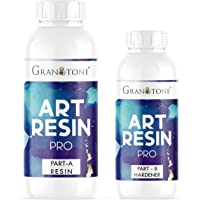 GRANOTONE Crystal Clear UV Resistant| Long- Lasting| Smooth Finish| All Surface |Easy to Use |Non-Toxic Epoxy Art Resin…
