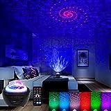 Klighten Projecteur ciel Etoile, Projecteur Ocean Vagues, Lampe Projecteur Starry Projector Light avec Télécommande / Timer /