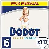 Dodot Sensitive - Pañales Talla 6, 13 kg+, 117 Unidades