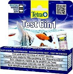 Tetra Test 6in1- Prueba de agua para controlar los seis valores más importantes del agua en un solo paso, permite una rápida