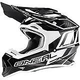O'Neal 2Series RL MX Helm Manalishi Schwarz Weiß Motocross Enduro Quad Cross ABS, 0200-00