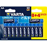 Varta Longlife Power Batterie AA Mignon Alkaline Batterien LR6 - 8er + 4er Pack
