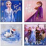 "Frozen 2 4 Pack Canvas LED Wall Art, Eachpiece Measures 11.4"" X 11.4"""