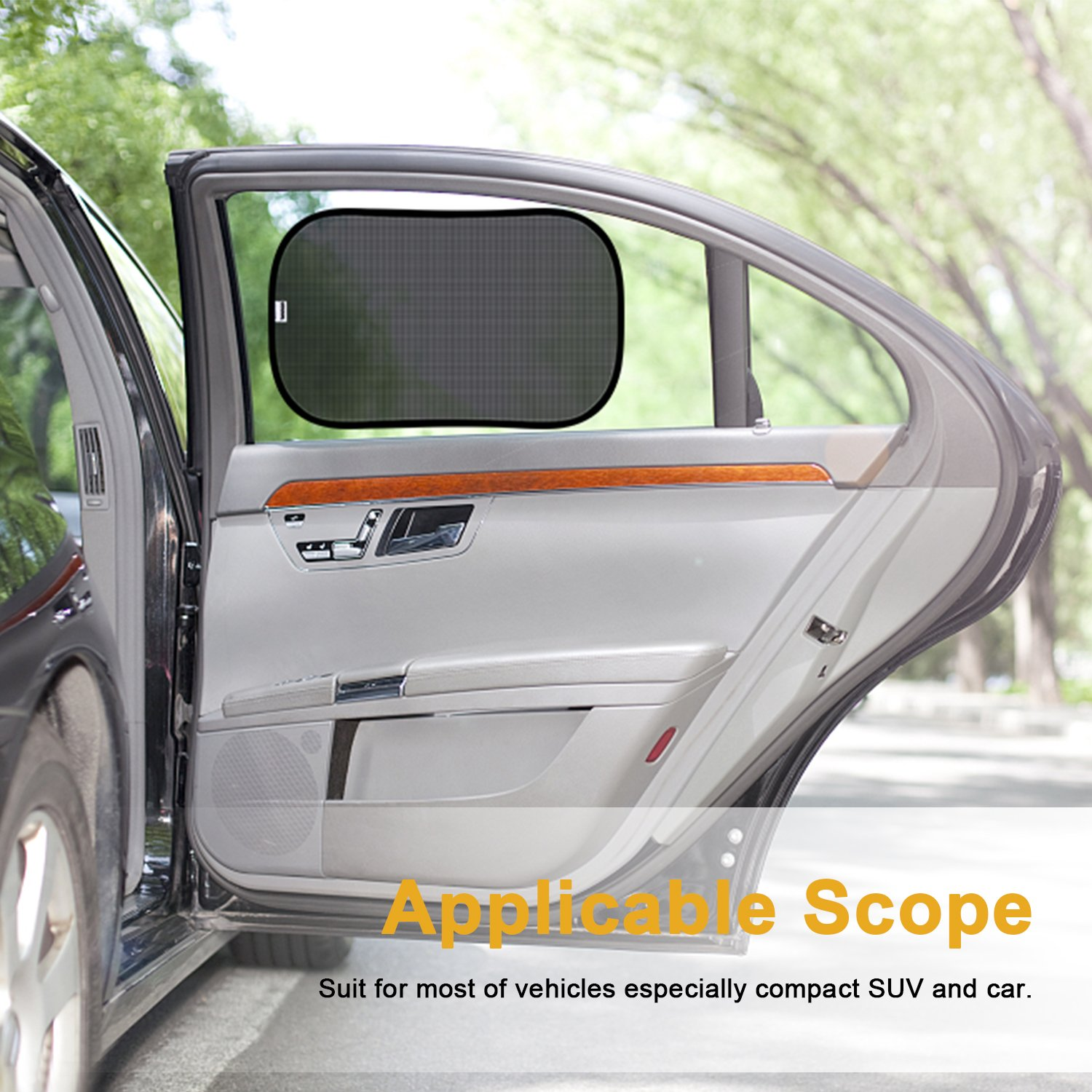 Window Kids 3 Pack Side Protection Car Sun Uv Mesh Sunshade ADORIC For Baby