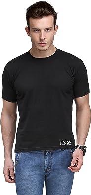AWG Men's Jersey Round Neck Black Dryfit Polyester T-Shirt