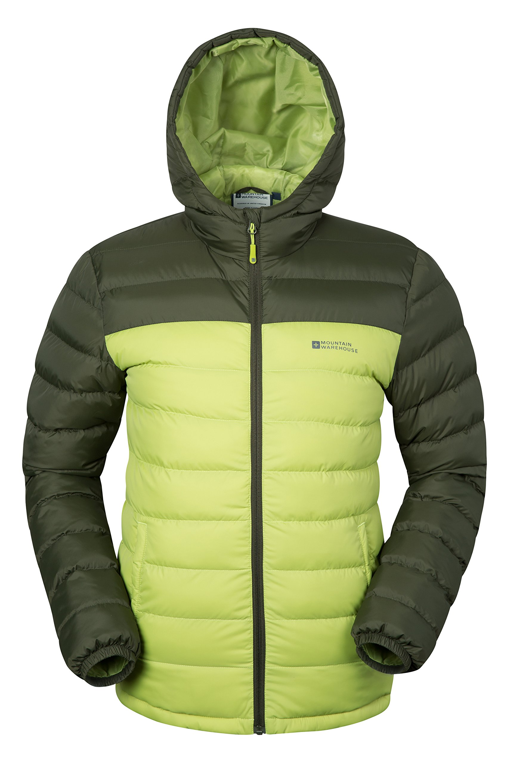 Mountain Warehouse Season Mens Padded Jacket - Water Resistant Jacket, Lightweight, Warm, Lab Tested to -30C, Microfibre Filler - for Winter Travelling, Walking 1