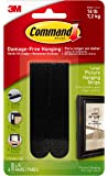 Command 17206BLK Large Picture Hanging Strips-Black, 4 Pairs