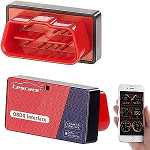 Lescars Obd Adapter Obd2 Adapter Mit Elm327 Chip Und Bluetooth Für Smartphones Obd Adapter Ios Auto
