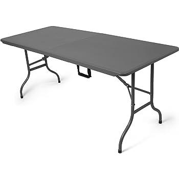 Tavolo tavolino pieghevole set birreria in dura resina 183x76xh72 cm per sagra campeggio fiera - Tavolo pieghevole con maniglia ...