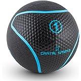 CAPITAL SPORTS Medba Serie • Medizinball • Slamball • Fitness Ball • Krafttraining • Ausdauertraining • Functional Training • abwaschbar • witterungsfest • extrem griffige Oberfläche • Studio Qualität • schwarz-blau • verfügbare Gewichte: 1 kg - 10 kg