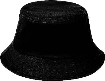 FISHSHOP Cappello da Pescatore Unisex Pianura Design Materiale Confortevole Cappello Pescatore Nero Sono Tutti i Cappucci Disponibili per Abbigliamento Casual Secchio Cappello Adumbrato Ombreggiato