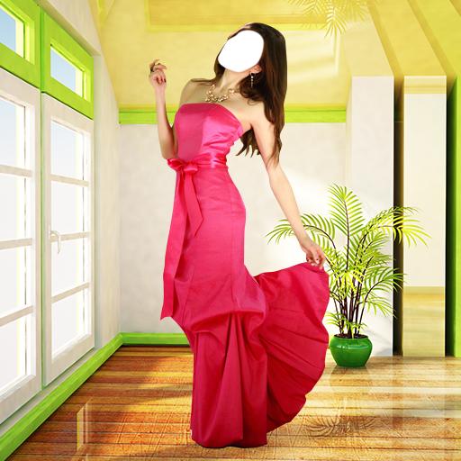 Frauen Langes Kleid Foto-Montage (Amazon Formale Lange Kleider)