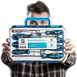 SolidWork 8-częściowy zestaw wkrętaków w wytrzymałej walizce z narzędziami – zestaw magnetycznych wkrętaków z wysokiej jakośc