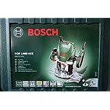 Bosch POF 1400 ACE Défonceuse 1400W Avec adaptateur d'aspiration, clé à fourche, bague de copiage, fraise à rainurer droit, butée parallèle, pointe de centrage, 3pinces de serrage, coffret de transport Porte-outils 6mm Bricolage