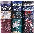 Lychii Washi Tape Set, 15 Rouleaux Ruban Adhésif Décoratif Masking Tapes pour Arts, Bullet Journal, Scrapbooking, Bricolage,