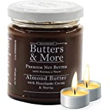 Butters & More Vegan Almond Butter with Hazelnuts, Dark Cocoa & Stevia (200G). Keto & Diabetic Friendly. with a Surprise…