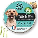 Ubica® Collier Anti Puces pour Chien Naturel Anti Tiques pour Grand Chien (+8kg) – Répulsif –Formule à Base d'Huiles Essentie