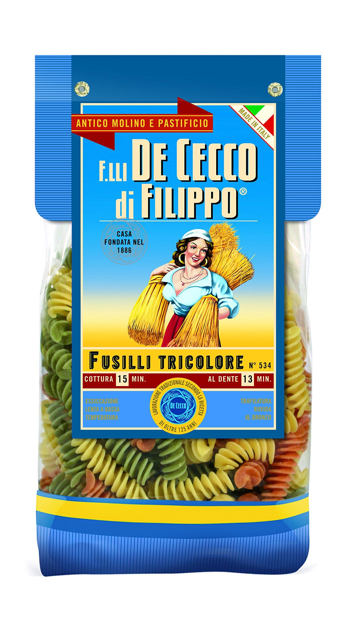 De Cecco LINEA GOURMET - FUSILLI TRICOLORE 4x500gr