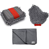 Store2508® Combo of Useful Dusting Cleaning Accessories. Microfibre Sponge, Glove & Cloth. for Car or Home Cleaning