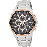 Casio Edifice Men's Black Dial Stainless Steel Watch - EF-539D-1A5VUDF