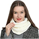 DonDon Sciarpa Tubo invernale in maglia da donna caldo e morbido Loop Tube