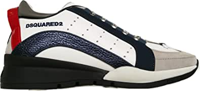 Dsquared Scarpe Uomo Low Top 551 Sneakers in Pelle SNM0505 01503059 M845 Bianco (Numeric_39_Point_5)