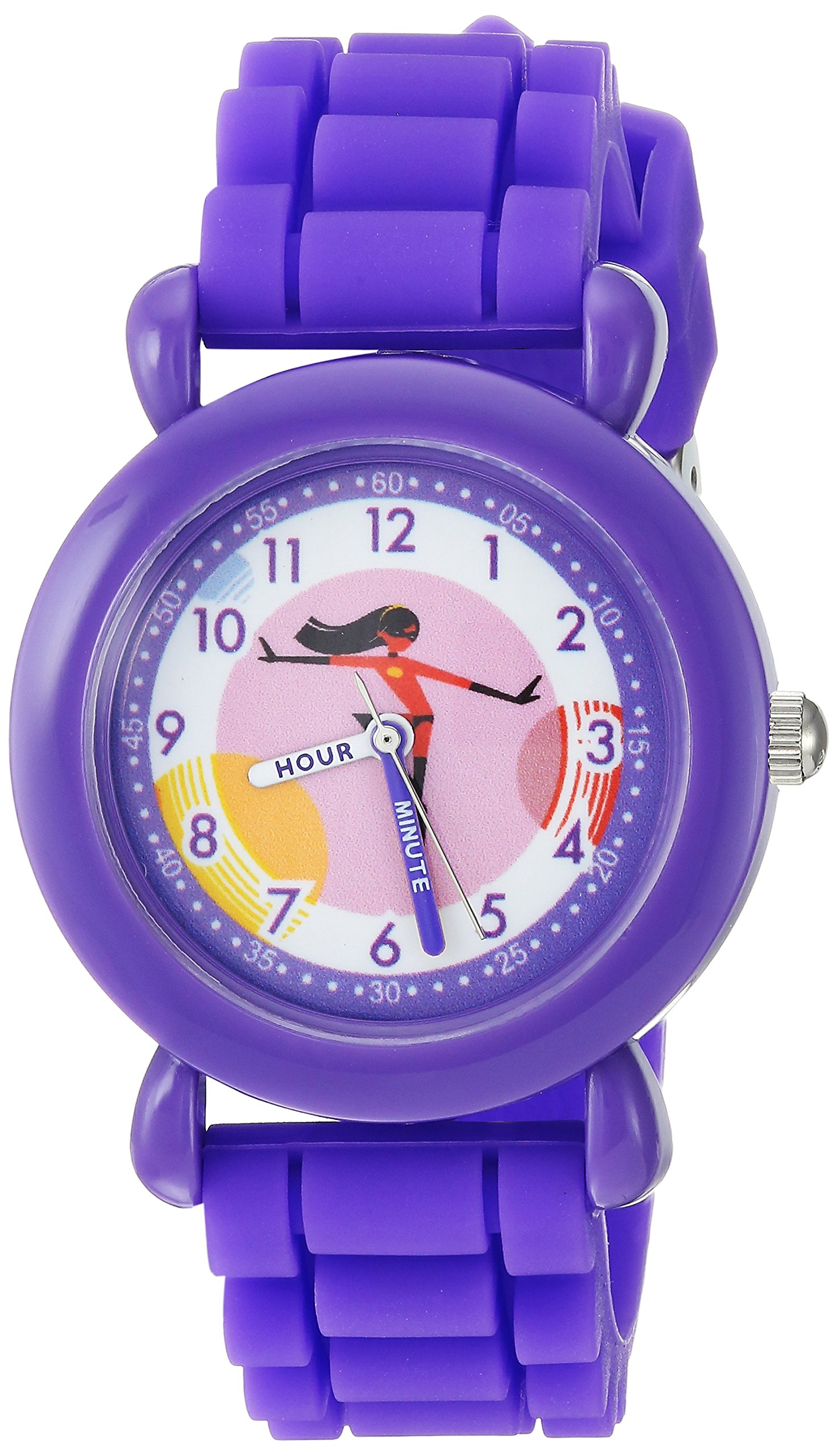 Disney Girl's Analog-Quartz Watch with Silicone Strap WDS000565