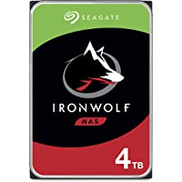 Seagate IronWolf 4 TB HDD, NAS interne Festplatte (8,9 cm (3,5 Zoll), 5900 U/Min, CMR, 64 MB Cache, SATA 6 GB/s, silber) Modellnr.: ST4000VN008