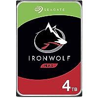 Seagate IronWolf, NAS interne Festplatte 4 TB HDD, 3.5 Zoll, 5900 U/Min, CMR, 64 MB Cache, SATA 6 GB/s, silber, inkl. 3…