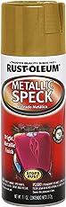 Rust-Oleum 252458 Automotive Metallic Speck Spray Paint for Car & Bike Detailing (Gold - 312 Grams)