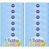 NIVEA Baby Lingettes Toddies (12 x 60 pces), lingettes nettoyantes bébé & nourrisson, lingettes hypoallergéniques visage, fesses et mains pour bébé, testées cliniquement