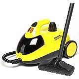 Bestron Stoomreiniger met accessoireset en kinderbeveiliging, capaciteit: 1,5 l, actieradius: 10 m, 4 bar, 1500 watt, geel