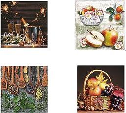 Decoupage Napkins - Colorful Fruit Set 4 Designs (Pack of 20) 33X33cm