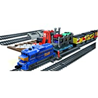 Power Train Turbos Auto Loader City Train Set, Multi Color (53 Pieces)