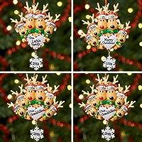 Décoration de Noël personnalisée avec arbre, boule de Noël, Noël | Famille de renne | Groupes 2,3,4,5 et 6 | Reindeer…