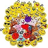 JZK 45 Mini knuffel Emoji sleutelhanger, 5cm nieuwigheid Emoji voor kinderen & volwassene verjaardag partij gunsten, partij z