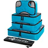 Gotrippin Polyester Packing Cubes Travel Organizer for Men and Women, 5 pc Luggage Bags Set (1 Large, 2 Medium and 1 Small Cu