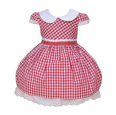 Cinda Mädchen Baumwolle partei Kleid Rot 62-68: Amazon.de: Bekleidung