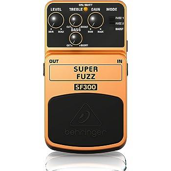Behringer SF 300 distorsore fuzz stompbox a pedale con equalizzatore alti e bassi per chitarra e basso elettrico a batteria