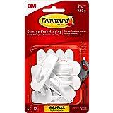 Command 17002-VP-6PK Kleine Haken met Strips Value Pack (6 Haken en 12 Kleine Zelfklevende Strips Elk)