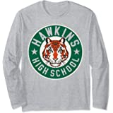 Netflix Stranger Things Hawkins High School Logo Manche Longue